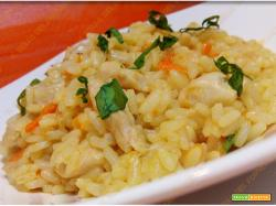Risotto con pollo e carote al curry