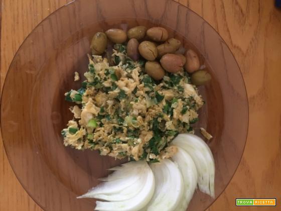 Uova con cipollotti