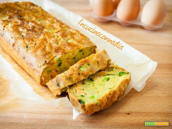 Plumcake salato con salmone zucchine e farina di ceci senza burro e lievito