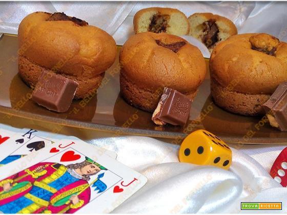 Muffin con ripieno di cioccolato