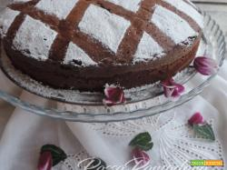 Torta al latte caldo con cioccolato fondente (hot milk chocolate cake)
