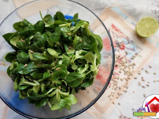 Valeriana al lime e girasole