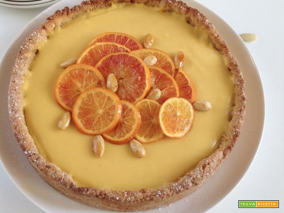 Crostata alle arance caramellate