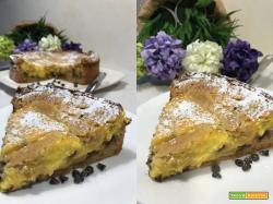 Crostata ricotta e cioccolato aromatizzata all' arancia