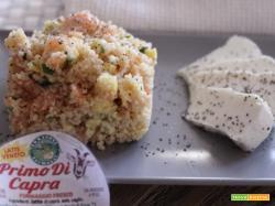 Cous cous con salmone, uova e primo di Capra