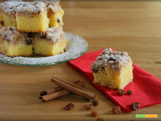 Crumble cake alle mele