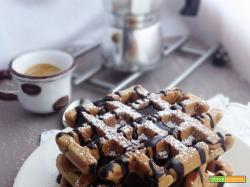 Waffles al caffè e farina di castagne