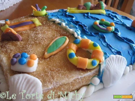 Fresh summer cake