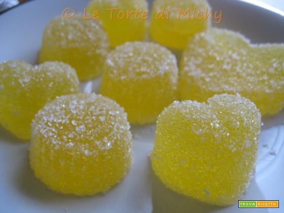 Caramelle Gelee all'arancia (Gelatine di frutta)
