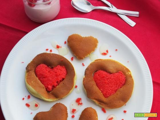 Colazione romantica: Pancakes di San Valentino