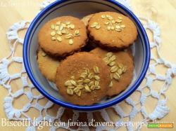 Biscotti light con farina d'avena e sciroppo d'agave