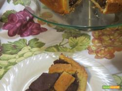 Crostata con crema di castagne al cioccolato
