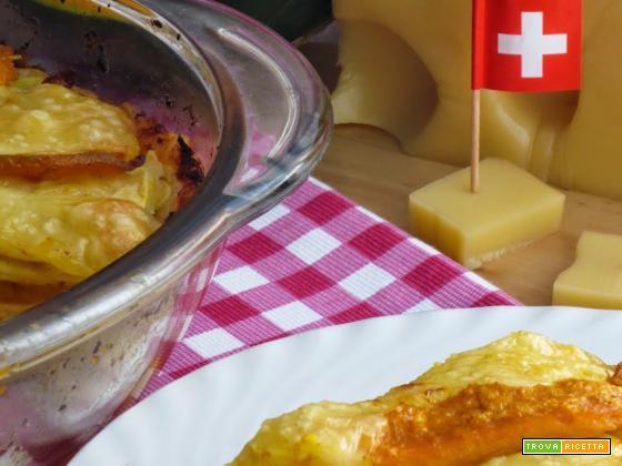 Lasagne di crepes con zucca ed emmentaler