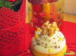 Cupcakes di Natale alle noci e dulce de leche