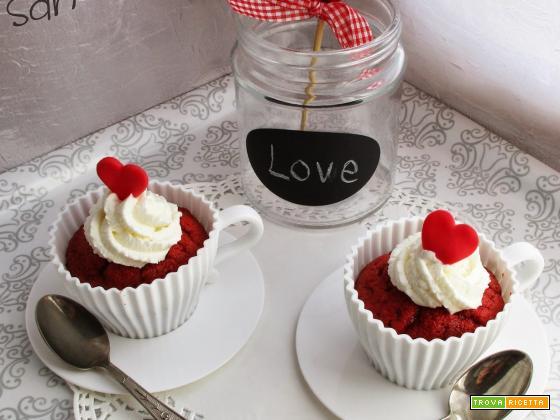 Red Velvet in tazza, Buon San Valentino!