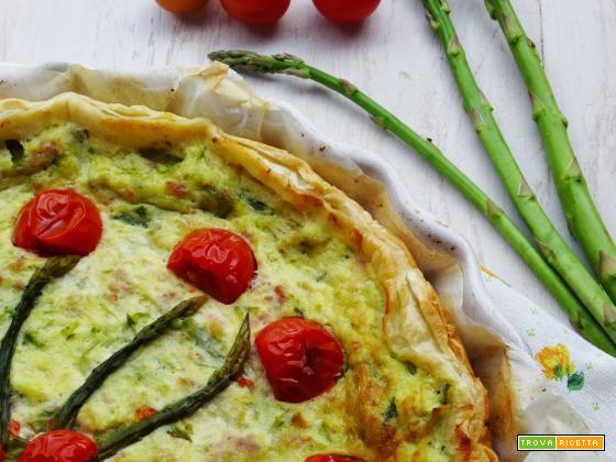 Torta rustica agli asparagi e ricotta
