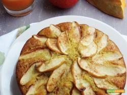 Torta di mele integrale con centrifugato di zucca, mele e cannella