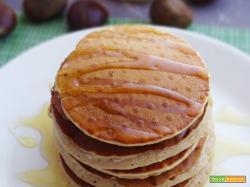 Pancakes alle castagne e miele di fiori d'arancio
