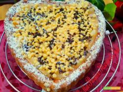 Crostata a cuore con crema di arancia e limone