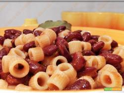 Pasta e fagioli borlotti alla napoletana
