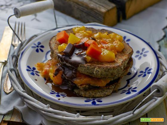 pancake di saraceno con zucca allo zenzero