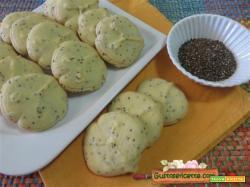 Biscotti frolla montata semi di chia
