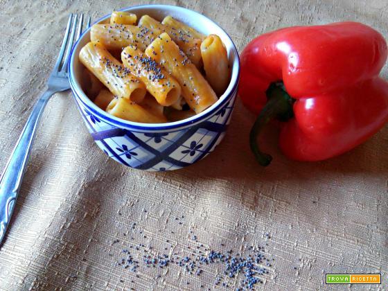 Pasta alla crema di peperone grigliato