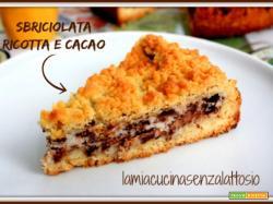 Torta sbriciolata (sbrisolona) ricotta e cacao senza lattosio