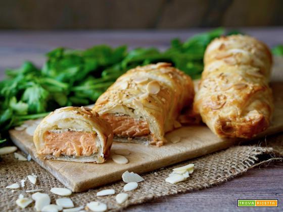 Salmone in Crosta di Sfoglia, Facile e Veloce