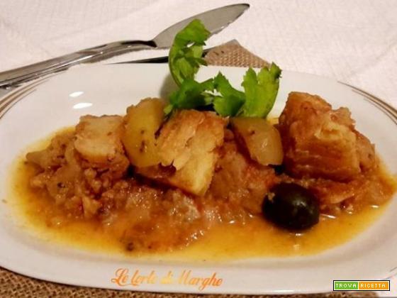 Stoccafisso con le verdure – cavolfiore e patate –