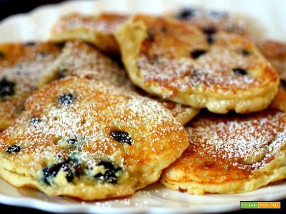 Pancake morbidosi ai mirtilli