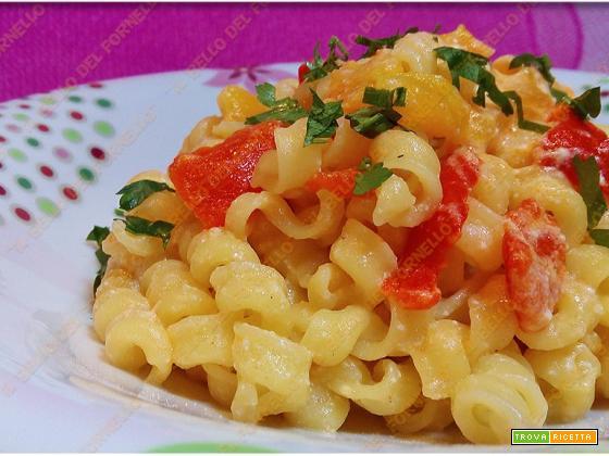 Pasta agrodolce con peperoni e miele
