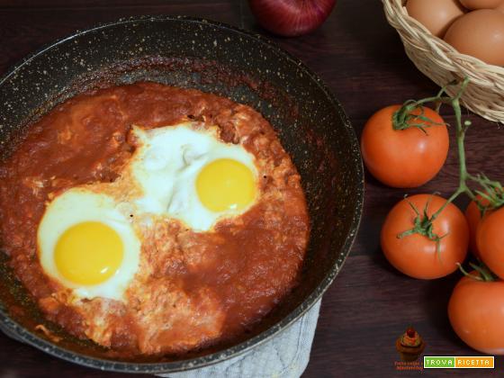 Uova in purgatorio, ricetta secondo veloce