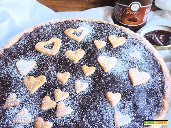 Crostata romantica con crema al cacao (Babbi)