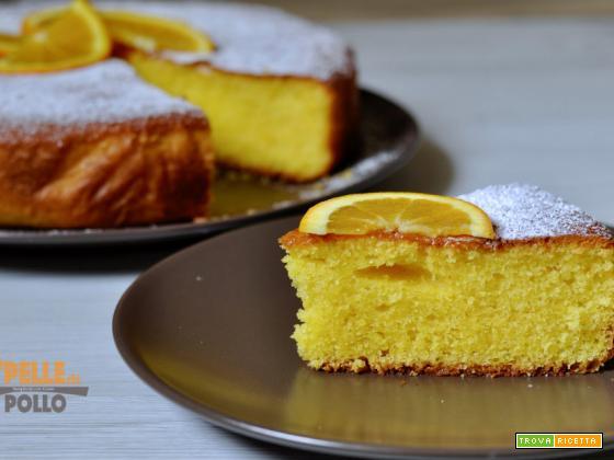 Torta allo yogurt e arancia