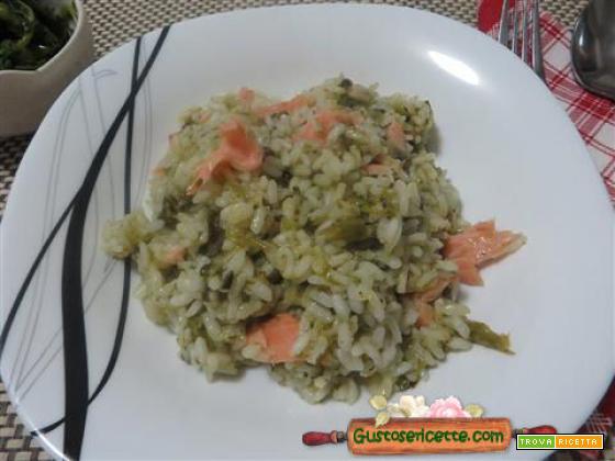 Risotto broccoletti e salmone