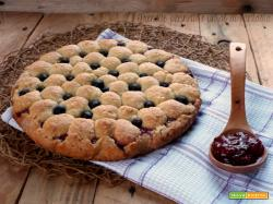 Crostata lamponi e mirtilli : frolla allo yogurt