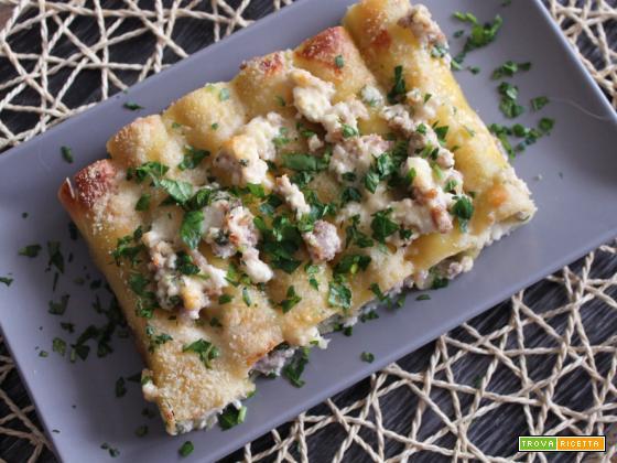 Cannelloni salsiccia e ricotta – più facili di così!