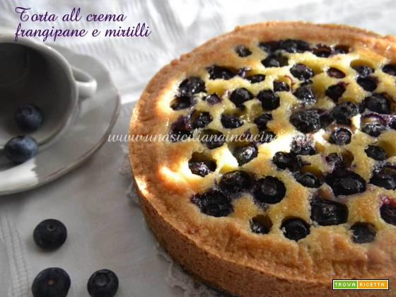 Torta crema frangipane e mirtilli Knam