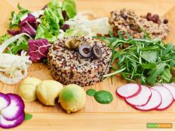 quinoa con patè di roveja alle nocciole