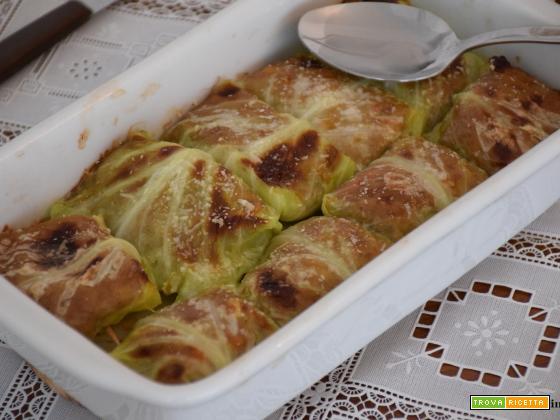 Involtini di verza con carne macinata (senza uova)