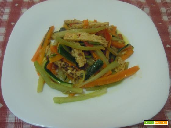 Filetti di verdure e tempeh