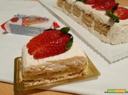 Mattonella di cheesecake Buondolce alle fragole