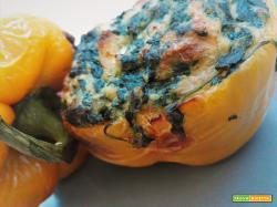 Peperoni ripieni di caprino e spinaci