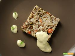 cereali e lenticchie con mayo al tofu e senape