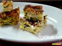 Antipasti di lasagna con zucchina e besciamella
