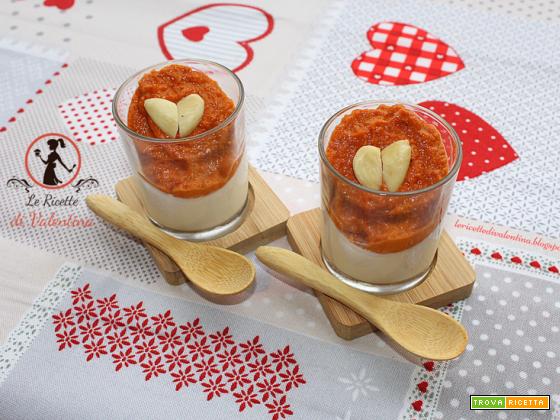 Panna Cotta al Grana Padano con pesto di pomodorini e mandorle, per un Tête-à-tête romantico a San Valentino