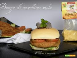 Burger di cavolfiore viola