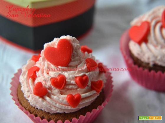 Cupcakes al cacao San Valentino