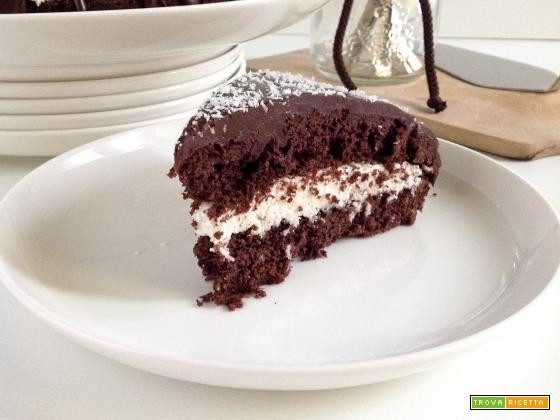 Bolo prestigio (torta al cocco e cioccolato)
